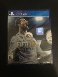 Ps4 FIFA 18 brand new North Vancouver, V7M 3N6