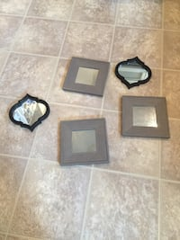 Set of Five small accent mirrors, two different patterns. Alexandria, 22310