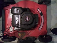red and black push mower 22inch