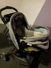 baby's black and gray travel system Toronto, M3N