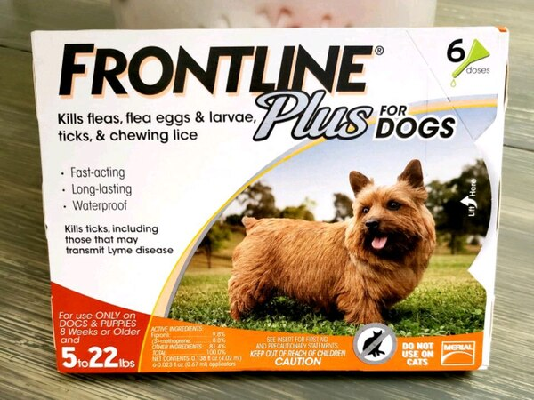 New and sealed Frontline Plus for dogs box 6 d