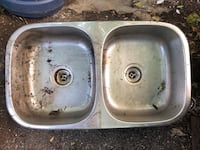 Stainless steel double sink Toronto, M6R 2Y1