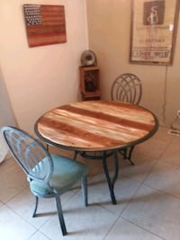 New reclaimed wood dining table and 2 chairs Cathedral City, 92234