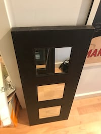 Brown leather wall mirror 30 x 12 in Toronto, M5J 2Y5