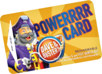 Dave and Busters Powerrrr card Los Angeles