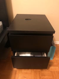 Black wooden nightstand Toronto, M9N 3P9