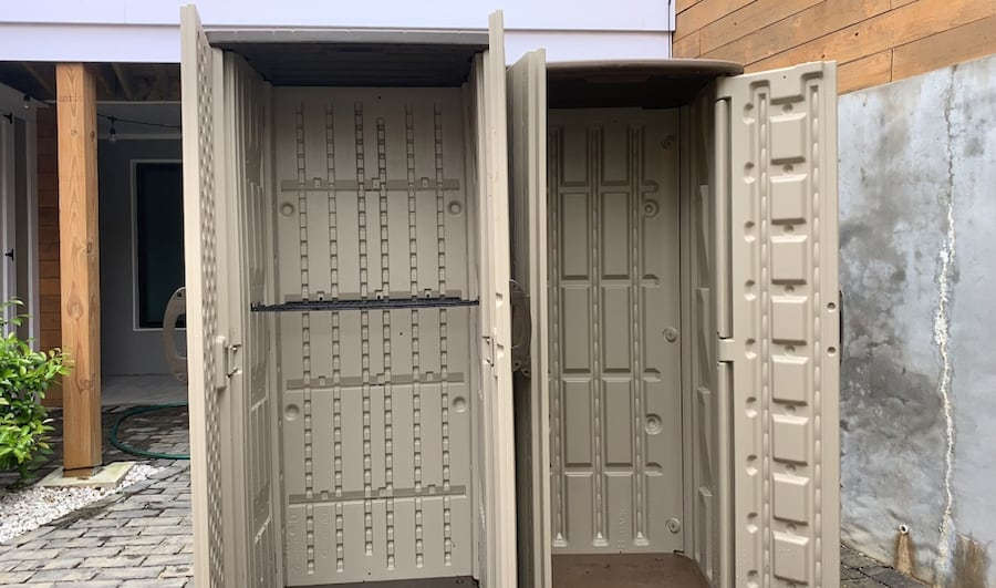 Two Suncast Storage Sheds c40fd053-7d5b-4019-bac8-a28342127234