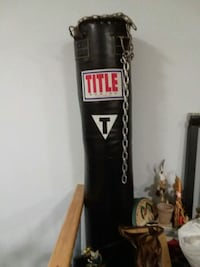 black and white Everlast heavy bag Queens, 11434