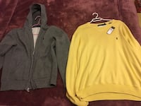 Polo grey hoodie and yellow warm crewneck polo ralph lauren Richmond, V6Y