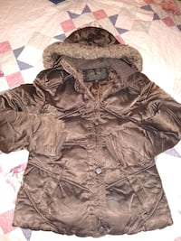 Brown puffer jacket Dover