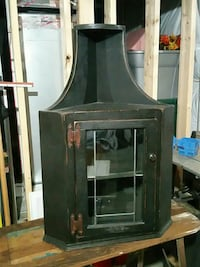 black wooden framed glass cabinet Fredericksburg, 22406