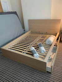 Full Size Storage bedframe+matching nightstand !! Free delivery