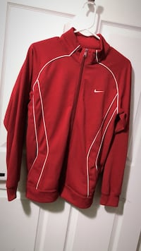 red and white Adidas zip-up jacket Toronto, M9W