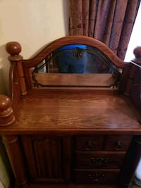 brown wooden table with mirror Fridley, 55432