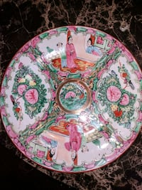 Vintage Famille Rose Chinese Porcelain Bowl Hand Painted  (( $55.00 ))