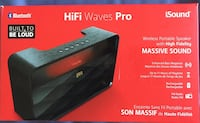 dreamGEAR iSound HiFi Waves Pro Rechargeable Bluetooth Speaker Toronto, M1G 3S8