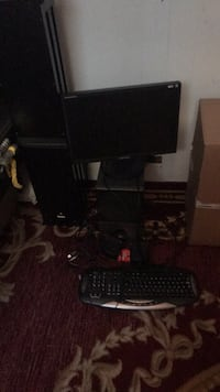 Samsung monitor and gateway keyboard and with mouse