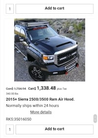 GMC - Sierra - ram air hood  [PHONE NUMBER HIDDEN] 7 2018