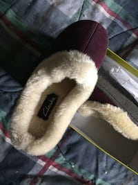 New Clark fur lined ladies slippers size 6