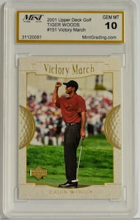 2001 Upper Deck Golf Tiger Woods #151 Victory March Caledon
