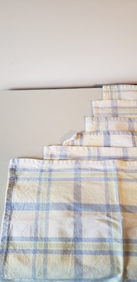 6 checkered placemats Frederick