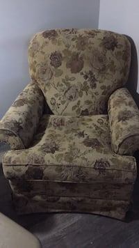 white and green floral sofa chair London, N6B 2A9