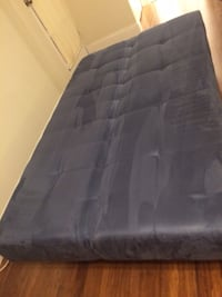 Rectangular blue air mattress