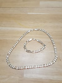 silver-colored chain necklace with bracelet Kansas City, 64131