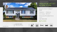 Open House Sat 10/19 12PM-3PM at 202 Salmon Brook St Granby CT Granby