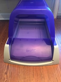 purple and white plastic pet carrier Chicago, 60630
