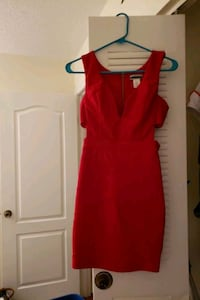 Small red stretchy bandage dress Fairfax