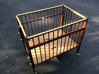 brown wooden crib baby play changing table Camden, 19934