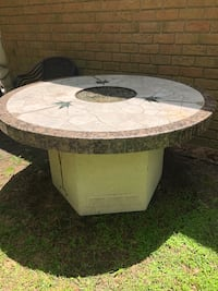Tile and granite table with propane fire pit Houston, 77068