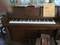 brown and white upright piano Springfield, 22153