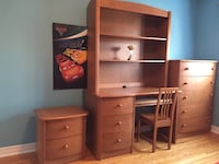 Brown wooden desk with hutch Beaconsfield, H9W 2L2