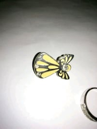 Angel Diamond Silver and Yellow Coler Pendent Goldsboro