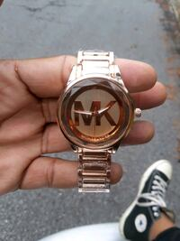 Rose gold  Michael Kors analog watch with link b Norcross, 30093