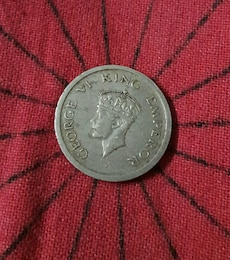George 6 King Emperor coin