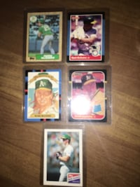 (5cards) 1987 & 1988 pristine Mark McGwire Rookies.  In excellent condition . Spartanburg, 29303
