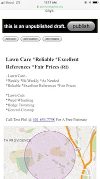 Lawn mowing Woonsocket