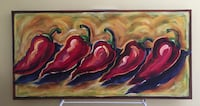 Red peppers original oil on canvas Brookfield city, 53045