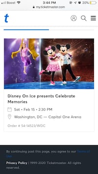 4 tickets to Disney on Ice Hedgesville, 25427