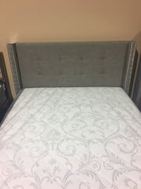Brand New Grey Fabric Bed with Nailhead Details  Toronto, M3H 2J4