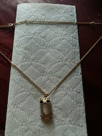 owl pendant with gold-colored chain necklace Hyattsville, 20783