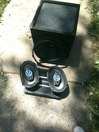 black and gray subwoofer speaker Colorado Springs, 80909