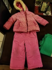 toddler's red zip-up hooded jacket with pants Toronto, M6E