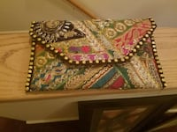 brown, pink, green, and black pouch Maryland, 21244