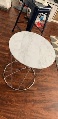 west elm sliver table/with marble stickoncontact paper.  Washington, 20020