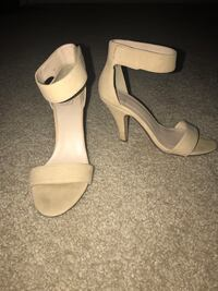 nude-colored open-toe ankle-strap d'orsay kitten heels Virginia Beach, 23462