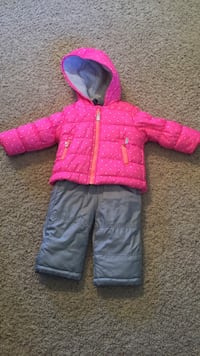 toddler's pink bubble jacket and gray pants Medicine Hat, T1C 0A3